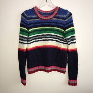 American Eagle Striped Knit Crew Neck Sweater